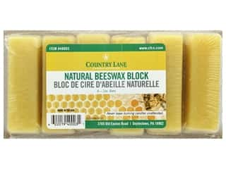candle wick tab: Country Lane Wax Beeswax Bars 6-1oz Natural