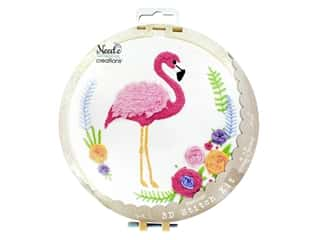 Needle Creations Kit 3D Stitch Flamingo  8""