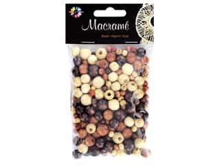 beading & jewelry making supplies: Midwest Design Embellishment Beads Macrame Mix Assorted Brown 1.76 oz