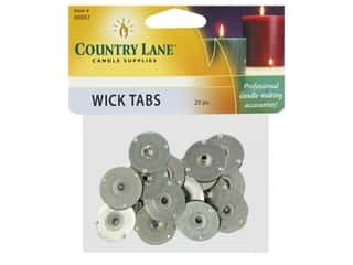 candle wick tab: Country Lane Candle Wick Tab 20 mm 20 pc