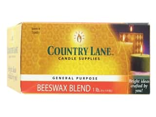 candle wax: Country Lane Wax General Purpose Beeswax Blend 1 lb