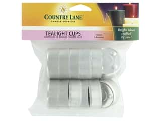 candle wick tab: Country Lane Tealight Cup Metal Tealight Cup 12 pc