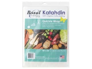 "batting: Bosal Batting Katahdin 100% Organic Cotton 45""x 36"" Quickie Wrap"