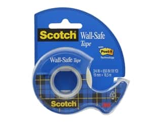 glues, adhesives & tapes: Scotch Tape Wall Safe Tape .75 in. x 650 in.