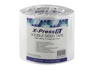 "glues, adhesives & tapes: X-Press it Double Sided Adhesive Tape 4""x 27yd"