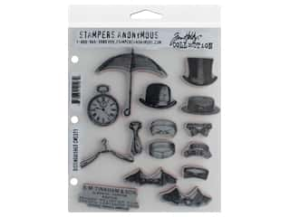 Stampers Anonymous Tim Holtz Cling Mount Stamp Set - Distinguished