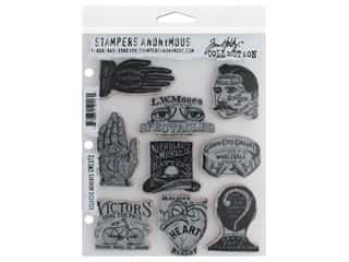 Stampers Anonymous Tim Holtz Cling Mount Stamp Set - Eclectic Adverts