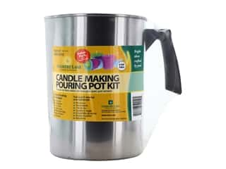 candle wick tab: Country Lane Candle Making Pouring Pot Kit - Votive