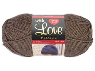 yarn: Red Heart With Love Metallic Yarn 200 yd. Taupe
