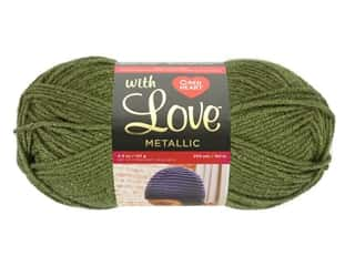 yarn & needlework: Red Heart With Love Metallic Yarn 200 yd. Olive