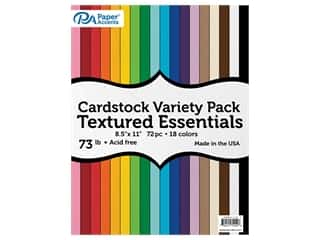 Paper Accents Cardstock Variety Pack 8.5 in. x 11 in. 73 lb Textured Essential 72 pc