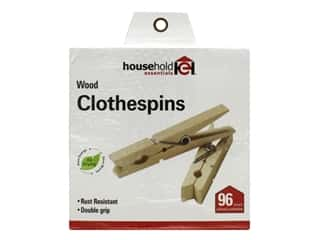Household Essentials Clothespins Birch 96 pc