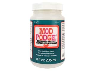 glues, adhesives & tapes: Plaid Mod Podge 8 oz. Super Gloss