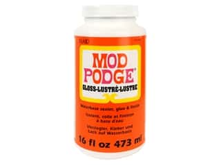 glues, adhesives & tapes: Plaid Mod Podge 16 oz. Gloss