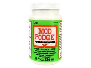 glues, adhesives & tapes: Plaid Mod Podge Paper 8 oz. Gloss