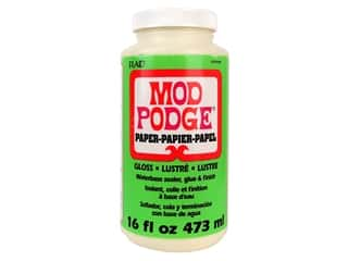 glues, adhesives & tapes: Plaid Mod Podge Paper 16 oz. Gloss
