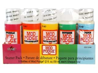 glues, adhesives & tapes: Plaid Mod Podge Starter Set 5 pc.