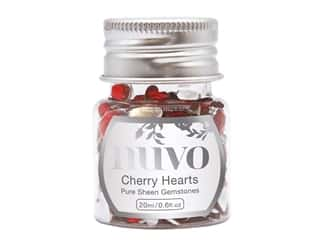 Nuvo Pure Sheen Gemstones .6 oz. Cherry Hearts