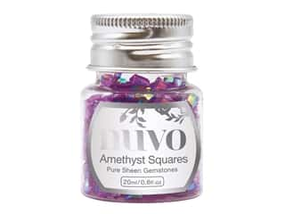 Nuvo Pure Sheen Gemstones .6 oz. Amethyst Squares