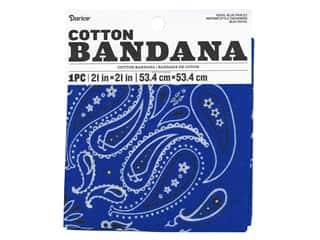 craft & hobbies: Darice Bandana 21 x 21 in. Paisley Royal Blue
