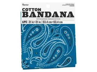 craft & hobbies: Darice Bandana 21 x 21 in. Paisley Turquoise