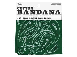 craft & hobbies: Darice Bandana 21 x 21 in. Paisley Hunter Green