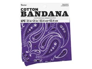 Darice Bandana 21 x 21 in. Paisley Purple