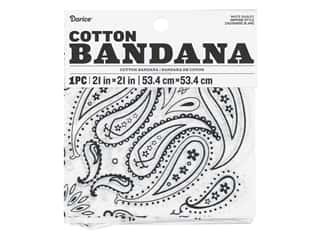 craft & hobbies: Darice Bandana 21 x 21 in. Paisley White