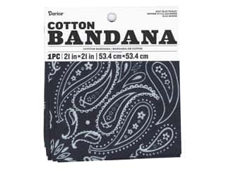 craft & hobbies: Darice Bandana 21 x 21 in. Paisley Navy Blue