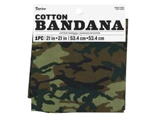 craft & hobbies: Darice Bandana 21 x 21 in. Camo Green