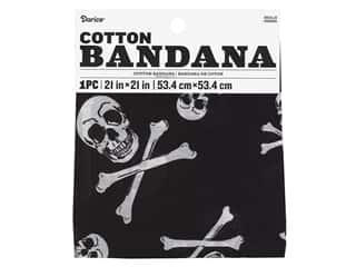 craft & hobbies: Darice Bandana 21 x 21 in. Skulls