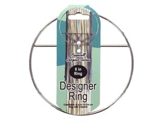 Pepperell Designer Ring 6 in. With Cross Bar