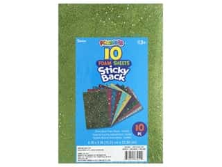 craft & hobbies: Darice Foamies Sheet 6 in. x 9 in. Sticky Back Confetti Brights 10 pc