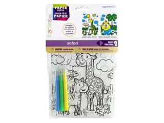 craft & hobbies: Darice Foamies Puzzle 5 in. x 7 in. With Mini Markers Safari 2 pc