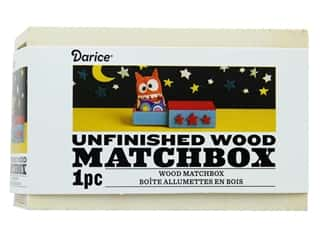 craft & hobbies: Darice Wood Matchbox Unfinished 4 in. x 2.5 in. x 1.5 in.