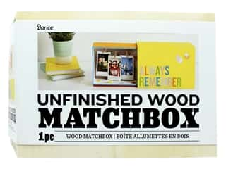 craft & hobbies: Darice Wood Matchbox Unfinished 8.8 in. x 5.5 in. x 3.3 in.