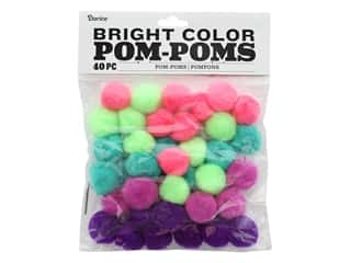Darice Pom Poms 1 in. Bright 40 pc