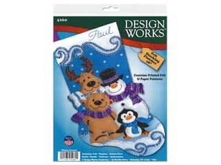 yarn & needlework: Design Works Kit 18 in. Felt Stocking Winter Friends