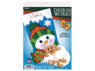 yarn: Design Works Kit 18 in. Felt Stocking Hugs For Kitty