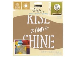 craft & hobbies: DecoArt Stencil Value Kraft 8 in. x 8 in. Rise & Shine