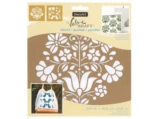 DecoArt Stencil Value Kraft 8 in. x 8 in. Scandinavian Floral