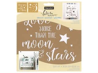 DecoArt Stencil Value Kraft 8 in. x 8 in. Moon & Stars