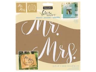 DecoArt Stencil Value Kraft 8 in. x 8 in. Mr. & Mrs.