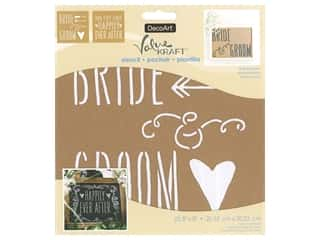 craft & hobbies: DecoArt Stencil Value Kraft 8 in. x 8 in. Bride & Groom