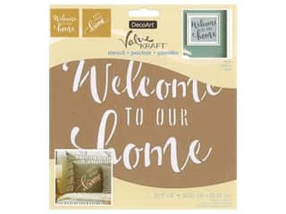 craft & hobbies: DecoArt Stencil Value Kraft 8 in. x 8 in. Home