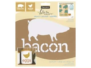 craft & hobbies: DecoArt Stencil Value Kraft 8 in. x 8 in. Bacon & Eggs