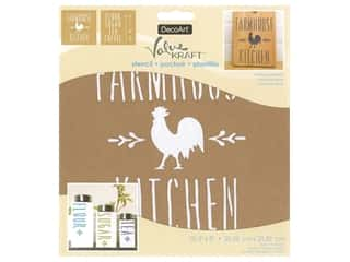 craft & hobbies: DecoArt Stencil Value Kraft 8 in. x 8 in. Farmhouse Kitchen