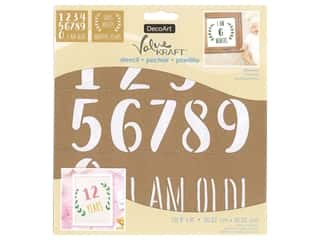 craft & hobbies: DecoArt Stencil Value Kraft 8 in. x 8 in. Milestones