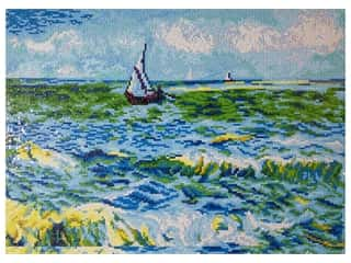 craft & hobbies: Diamond Dotz Advanced Kit - Seascape At Saint Maries (Van Gogh)