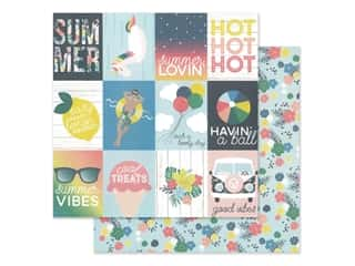 Simple Stories Collection Sunshine And Blue Skies Paper 12 in. x 12 in. Elements 3 in. x 4 in. (25 pieces)
